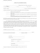 Affidavit And Indemnity Bond