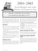 Forms And Instructions For Education Districts - 2001-2002 Local Budget Law And Notice Of Property Tax