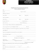 Application For Veterans Exemption Exeter, Rhode Island