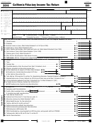 Form 541 - California Fiduciary Income Tax Return - 2016