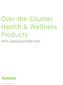 Over-the-counter Health & Wellness Products - Catalog And Order Form - 2015