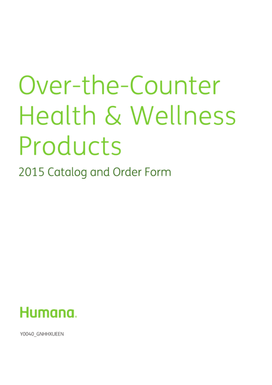 Over The Counter Health Amp Wellness Products Catalog And