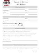 Customer Account Application