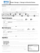 Name Change / Change In Marital Status - Byu Idaho
