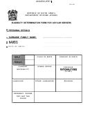 Form Bi-1590 - Eligibility Determination Form For Asylum Seekers