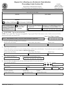 Form N-336 - Request For A Hearing On A Decision In Naturalization Proceedings Under Section 336 - U.s. Citizenship And Immigration Services