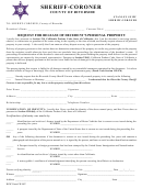 Rcsc Form Cr 1007 - Request For Release Of Decedent's Personal Property - Sheriff-coroner County Of Riverside