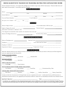 Ddess Substitute Teacher Or Training Instructor Application Form