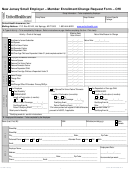New Jersey Small Employer - Member Enrollment/change Request Form - Ohi - 2014