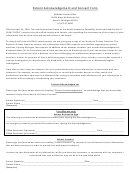 Patient Acknowledgement And Consent Form