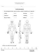 Chiropractic Pain Diagram Template