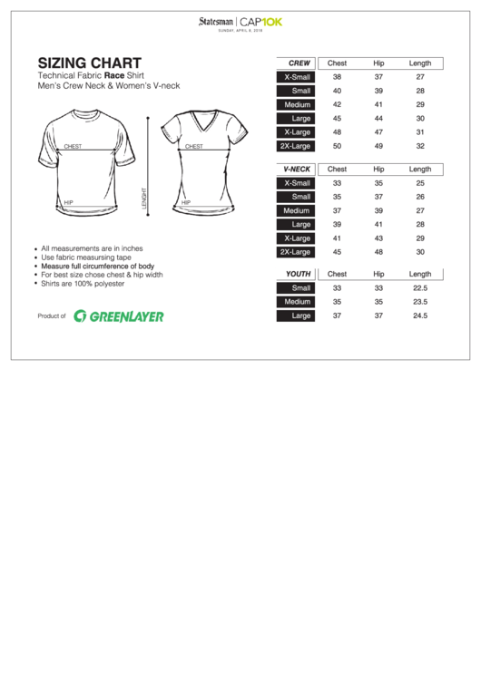 1353 Clothing Size Charts free to download in PDF
