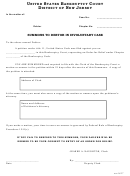 Summons To Debtor In Involuntary Case Form - United States Bankruptcy Court - District Of New Jersey