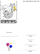Whale Party Invitation Template
