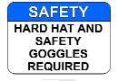 Hard Hat And Safety Goggles Sign Template