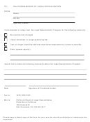 Legal Specialization Resign Form - California Board Of Legal Specialization - 2012
