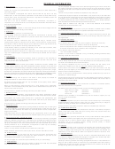 Instructions For Declaration Of Estimated Tax - City Of Springfield Income Tax Division - 2008