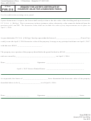 Vt Form Pvr-316 - Request For Lister's Certificate Of Housesite Value For A Subdivided Parcel