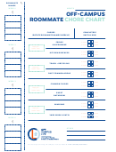 Off-campus Roommate Chore Chart