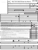 Form Et-706 - New York State Estate Tax Return - 2012