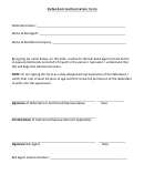Defendant Authorization Form