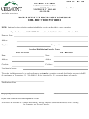 Form Vr 8 - Notice Of Intent To Change Vocational Rehabilitation Provider - Vermont Workers' Compensation