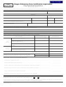 Form Or-ap-cert - Oregon Enterprise Zone Certification Application