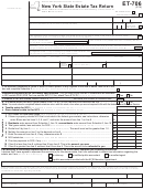 Form Et-706 - New York State Estate Tax Return - Department Of Taxation And Finance