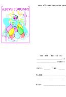 Pastel Divorce Party Invitation Template
