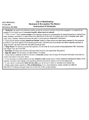 Form Wv 25402 - City Of Martinsburg Business & Occupation Tax Return Instructions