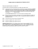 Instructions On Completion Of Form Ssa-7011-f4