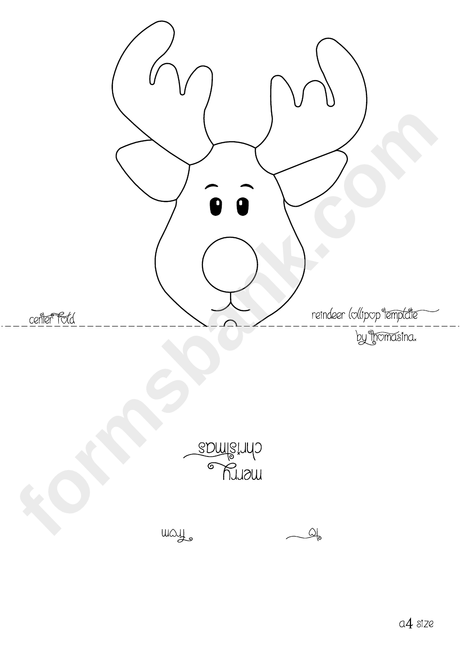 reindeer head template for lollipop printable pdf download