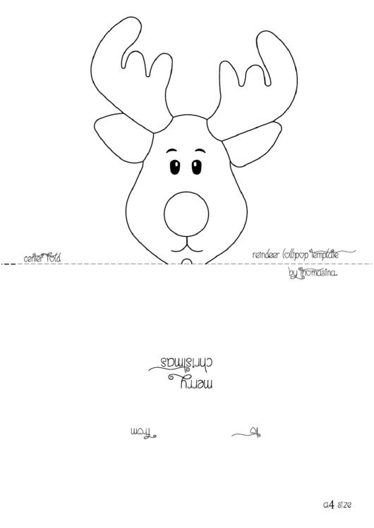 reindeer head template for lollipop printable pdf download