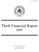 Form 1313 - Thrift Financial Report - Office Of Thrift Supervision