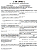 Form Cst-200cu - West Virginia Sales & Use Tax Return Instructions