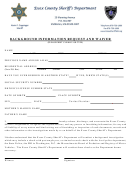 Background Information Request And Waiver - Sheriff's Department