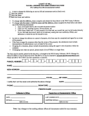 Tax Bil Address And Name Correction Form - County Of Will