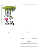 Puppys Party Invitation Template