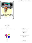 Dance Party With Dj Invitation Template