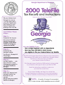 Telefile Tax Record And Instructions - Georgia Department Of Revenue - 2000