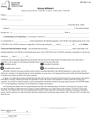 Form Dtf-350 - Group Affidavit - Department Od Taxation And Finance