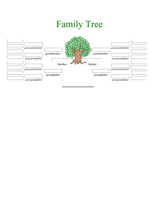 5 Generation Family Tree In Color Template Printable pdf