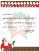 Secret Santa Letter For Office Template