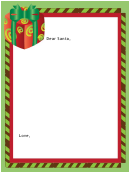 Letter To Santa Blank Template
