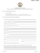 Form Tt-19-npm - Tobacco Product Manufacturer Certification For Non-participating Manufacturers