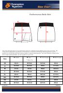 Champion System Skirt Size Chart