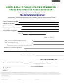 Gross Receipts Tax Fund Assessment Form - South Dakota Public Utilities Commission - 2009