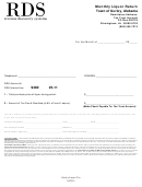 Monthly Liquor Return Form - Town Of Gurley, Alabama - 2011
