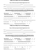 Special Needs Registration Form - Town Of Old Lyme