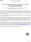 Fcc Form 605 - Quick-form Application For Authorization In The Ship, Aircraft, Amateur, Restricted And Commercial Operator, And General Mobile Radio Services
